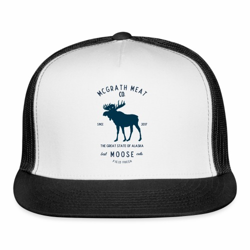 McGrath Meat Company Blue Stamp Logo - Trucker Cap
