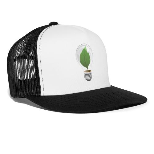 Clean Energy Green Leaf Illustration - Trucker Cap