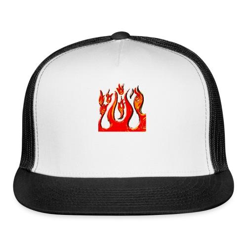 the flamz logo for hot - Trucker Cap