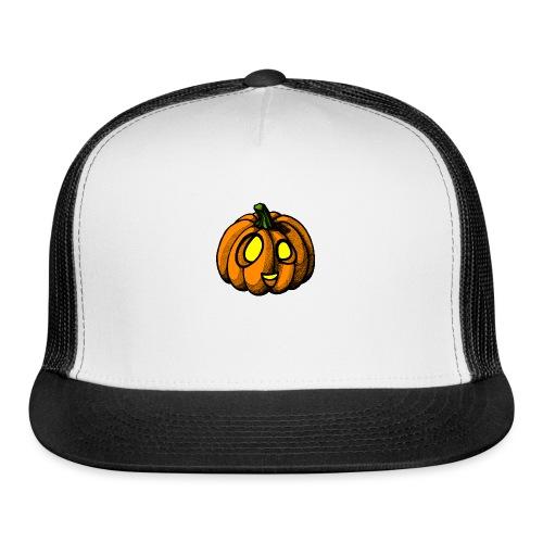 Pumpkin Halloween scribblesirii - Trucker Cap