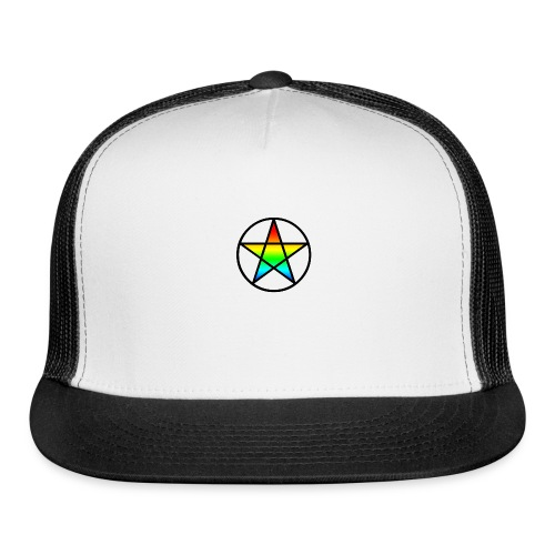 Official Iridescent Tee-Shirt // Men's // White - Trucker Cap