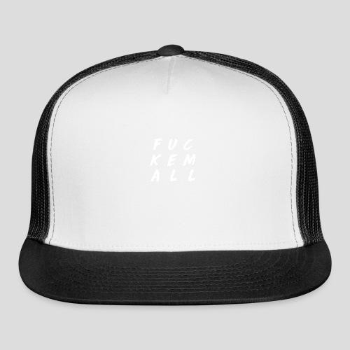 FUCKEMALL White Logo - Trucker Cap