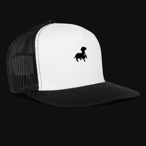 Dachshund love silhouette black - Trucker Cap
