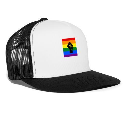 BLM Pride Rainbow Black Lives Matter - Trucker Cap