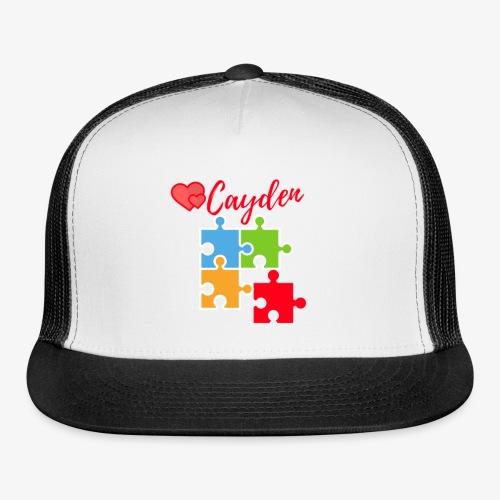 Cayden Autism Awareness Thank You - Trucker Cap