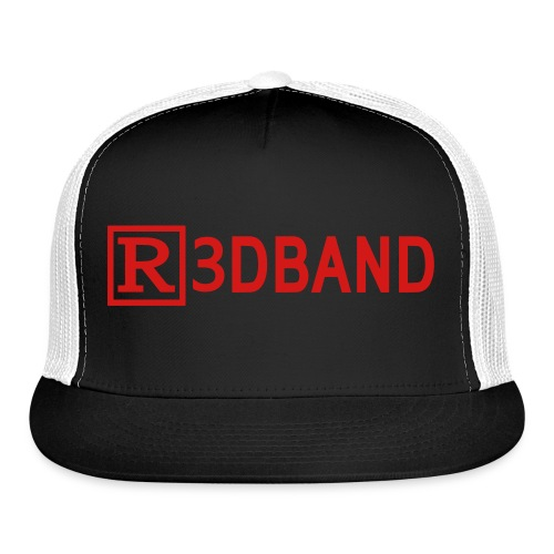 r3dbandtextrd - Trucker Cap