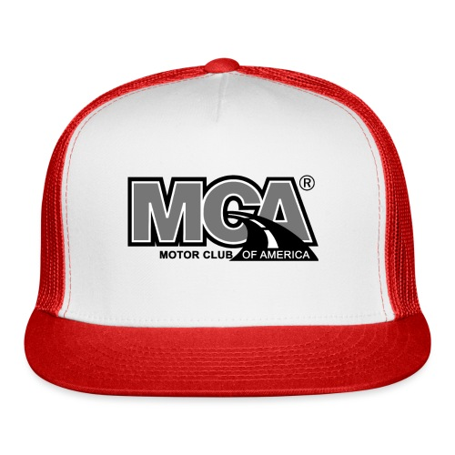 MCA Logo WBG Transparent BLACK WHITE TITLEfw fw pn - Trucker Cap