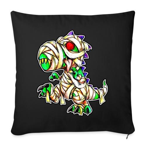 """Halloween Mummy Trex - Throw Pillow Cover 17.5"""" x 17.5"""""""
