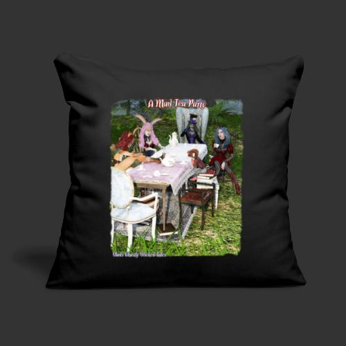 "Alicia Abyss Mad Tea Party - Throw Pillow Cover 17.5"" x 17.5"""