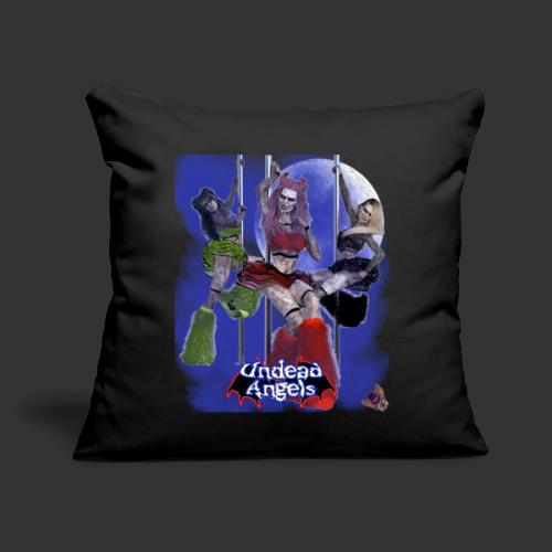 """Undead Angels: Pole Dance Trio Full Moon - Throw Pillow Cover 17.5"""" x 17.5"""""""