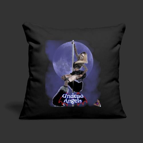 """Undead Angels: Undead Dancer Onyx Full Moon - Throw Pillow Cover 17.5"""" x 17.5"""""""