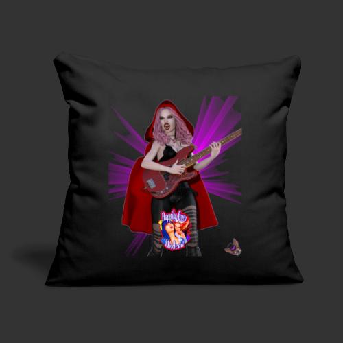 """Happily Ever Undead: Blood Red Hood Bassist - Throw Pillow Cover 17.5"""" x 17.5"""""""