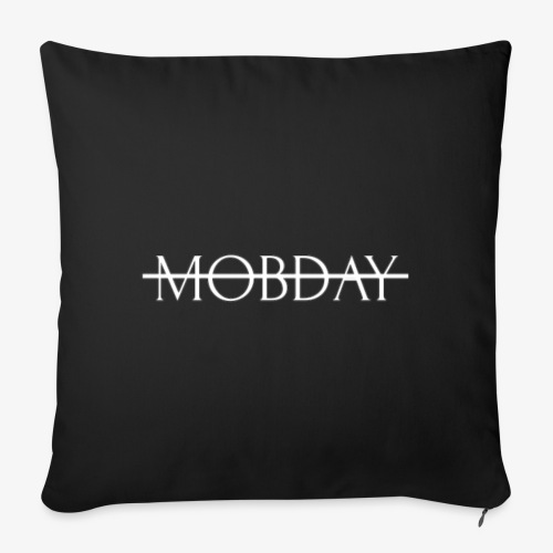 "Mobday Cross Out Logo - Throw Pillow Cover 17.5"" x 17.5"""