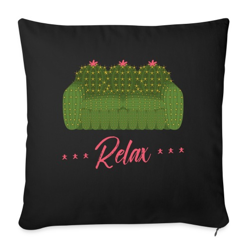 """Relax! - Throw Pillow Cover 18"""" x 18"""""""