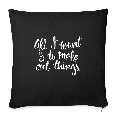 """Cool Things White - Throw Pillow Cover 17.5"""" x 17.5"""""""