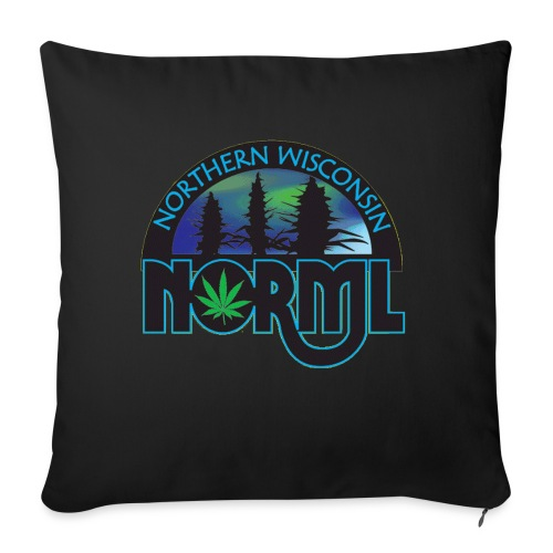 """Northern Wisconsin NORML Official Logo - Throw Pillow Cover 17.5"""" x 17.5"""""""