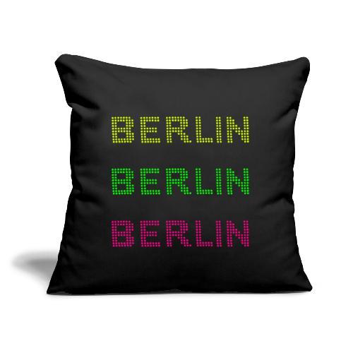 """Berlin dots-font - Throw Pillow Cover 18"""" x 18"""""""