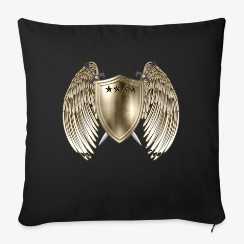 """GOLD SHIELD-21 - Throw Pillow Cover 17.5"""" x 17.5"""""""