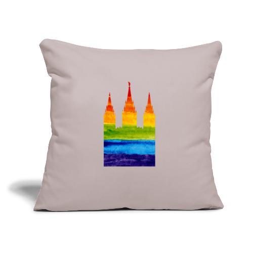 """Mormon Gay Temple - Throw Pillow Cover 17.5"""" x 17.5"""""""