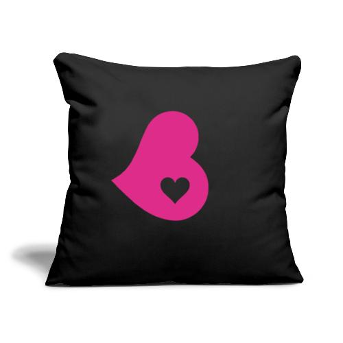 """Two Hearts - Throw Pillow Cover 17.5"""" x 17.5"""""""
