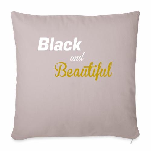 "Black & Beautiful Long Sleeve Shirt - Throw Pillow Cover 17.5"" x 17.5"""