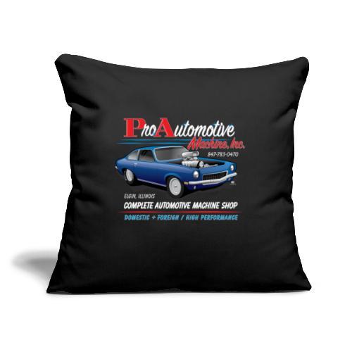 "ProAutoTeeDesign062317fin - Throw Pillow Cover 17.5"" x 17.5"""