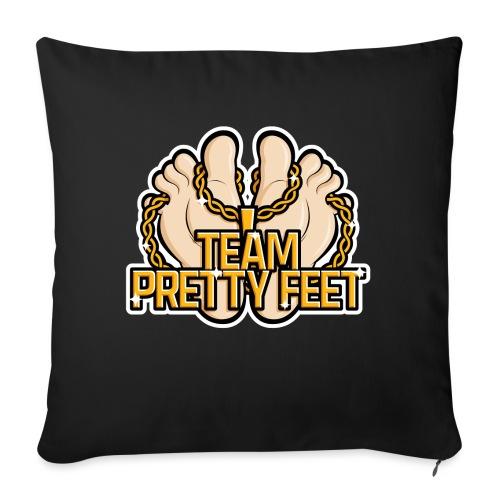 """Team Pretty Feet™ Gold Chain - Throw Pillow Cover 17.5"""" x 17.5"""""""