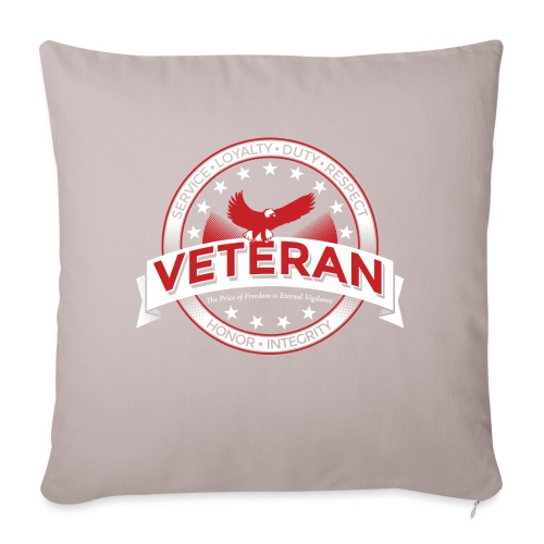 """Veteran Soldier Military - Throw Pillow Cover 17.5"""" x 17.5"""""""