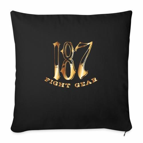 "187 Fight Gear Gold Logo Sports Gear - Throw Pillow Cover 18"" x 18"""