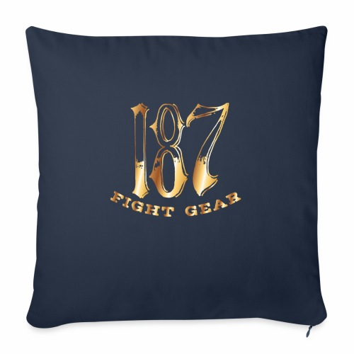 "187 Fight Gear Gold Logo Sports Gear - Throw Pillow Cover 18"" x 18"""