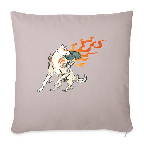 """Fire wolf - Throw Pillow Cover 17.5"""" x 17.5"""""""