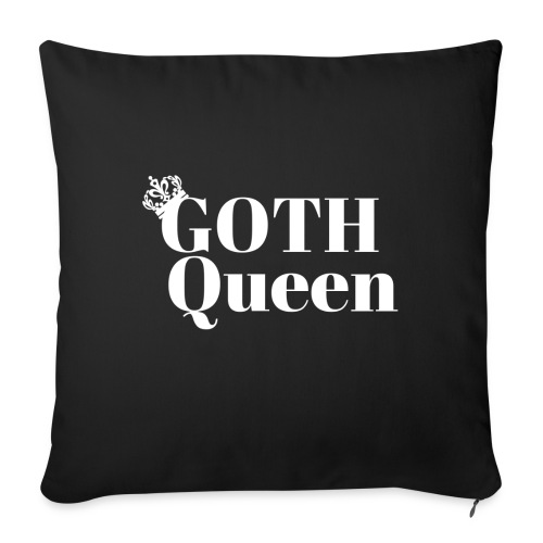 Goth WHITE LARGE - Throw Pillow Cover
