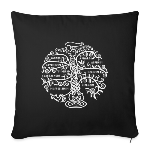 """Yggdrasil - The World Tree - Throw Pillow Cover 18"""" x 18"""""""