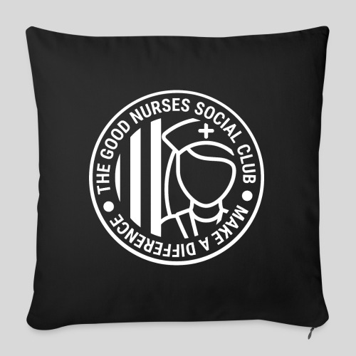 "The Good Nurses Social Club - Throw Pillow Cover 18"" x 18"""