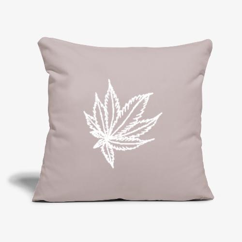 "white leaf - Throw Pillow Cover 17.5"" x 17.5"""