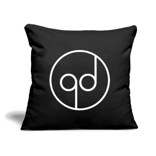 """White Icon - Throw Pillow Cover 18"""" x 18"""""""