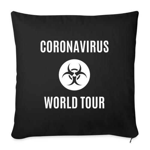 "CORONAVIRUS WORLD TOUR - Throw Pillow Cover 17.5"" x 17.5"""