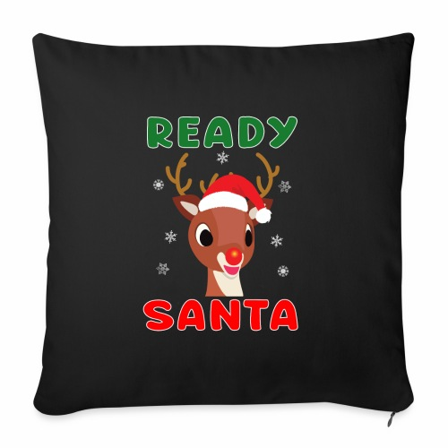"Rudolph Red Nose Reindeer Christmas Snowflakes. - Throw Pillow Cover 17.5"" x 17.5"""