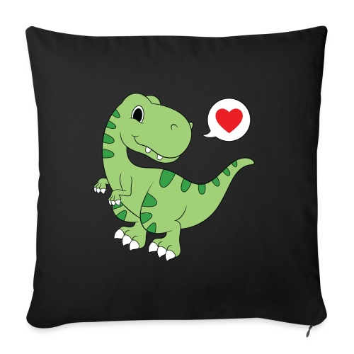"Dinosaur Love - Throw Pillow Cover 17.5"" x 17.5"""