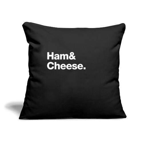 "Ham & Cheese. - Throw Pillow Cover 17.5"" x 17.5"""