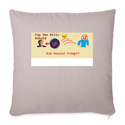 "donald trump gets hit with a ball - Throw Pillow Cover 17.5"" x 17.5"""