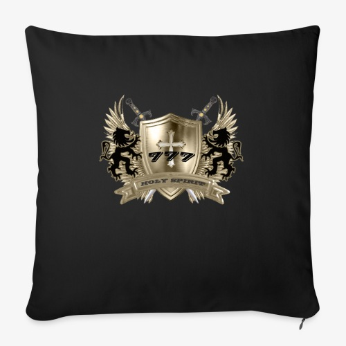 """HOLY SPIRIT GOLD SHIELD - Throw Pillow Cover 17.5"""" x 17.5"""""""