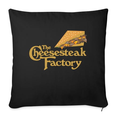 """The Cheesesteak Factory - Throw Pillow Cover 17.5"""" x 17.5"""""""