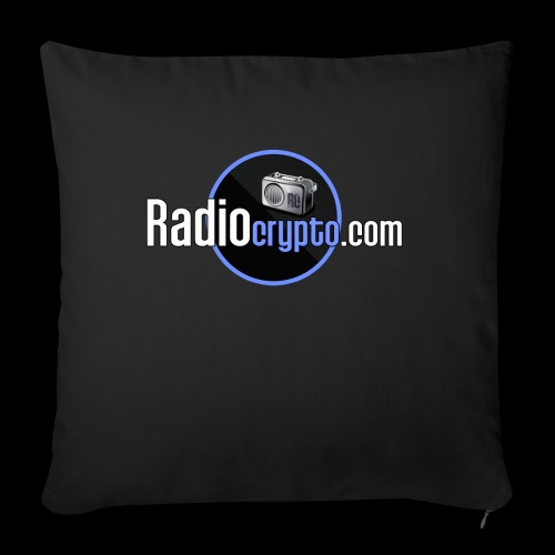 "RadioCrypto Logo 1 - Throw Pillow Cover 17.5"" x 17.5"""