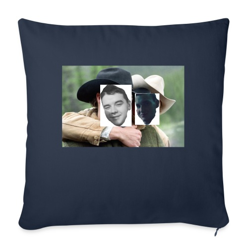 """Darien and Curtis Camping Buddies - Throw Pillow Cover 17.5"""" x 17.5"""""""