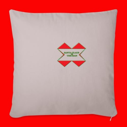 "SANTA CLAUS IS THE MAN - Throw Pillow Cover 17.5"" x 17.5"""