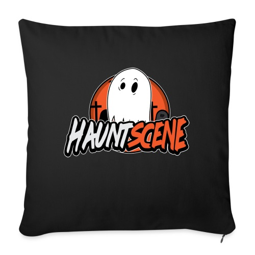 "HauntScene Modern Logo 2020 - Throw Pillow Cover 17.5"" x 17.5"""