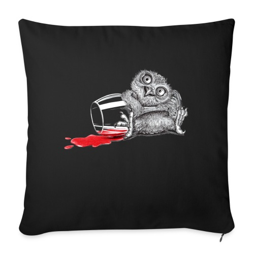 """Tipsy Owl - Throw Pillow Cover 17.5"""" x 17.5"""""""