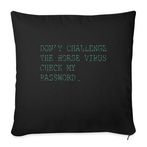 "CE2_-_Horse_Virus - Throw Pillow Cover 17.5"" x 17.5"""