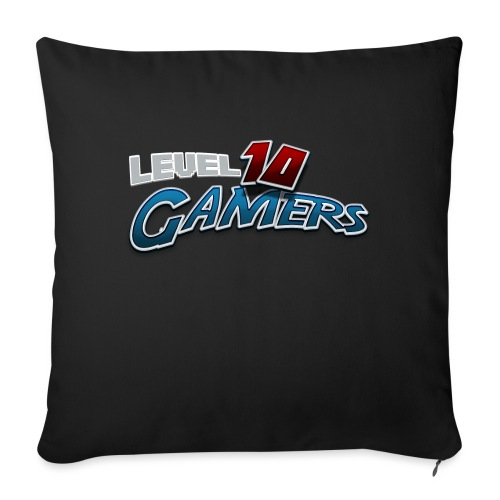 """Level10Gamers Logo - Throw Pillow Cover 17.5"""" x 17.5"""""""